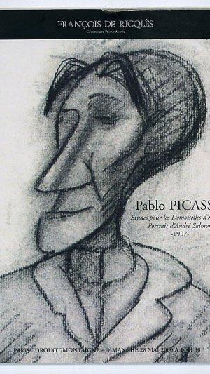 Pablo Picasso: Études Pour Les Demoiselles D'avignon; Portrait d'andré Salmon 1907