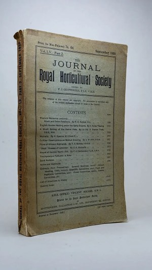 The Journal of the Royal Horticultural Society Vol. LV Part 2. September 1930