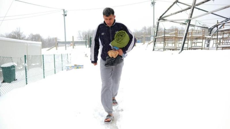 Barfuß im Schnee