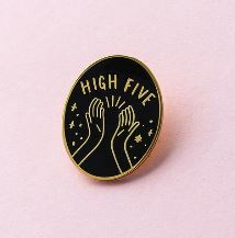 Old English Company High Five Pin