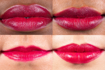 Swatch del rossetto Berlin di Lush