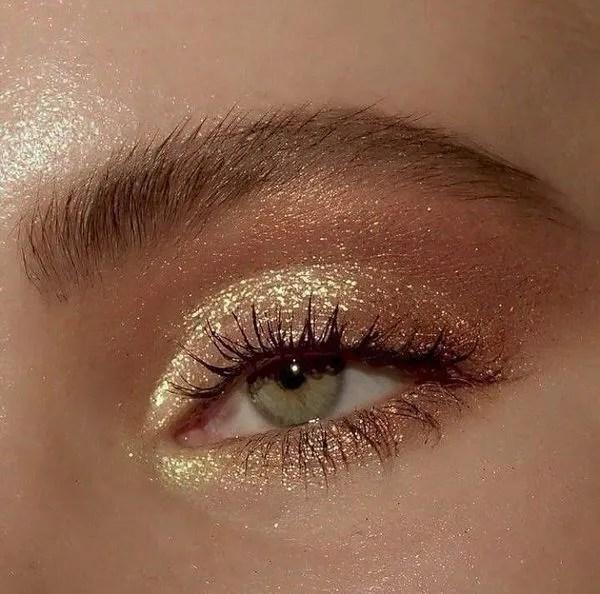 gold makeup palpebra piena