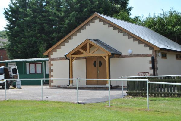Andover Advertiser: The new pavlion at Stockbridge Rec which is ready for the new season in the Hampshire Premier League