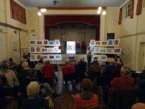 Sandy Wilson presenting
