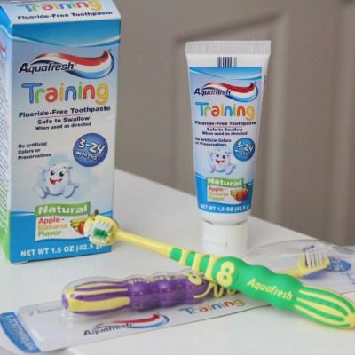 Make Brushing Fun With Aquafresh Training Toothpaste