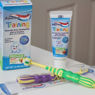 Make Brushing Fun With Aquafresh Training Toothpaste