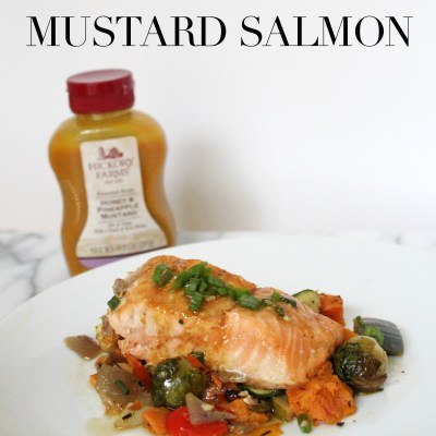 Honey and Pineapple Mustard Salmon
