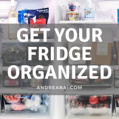 My Organized Fridge…Finally!