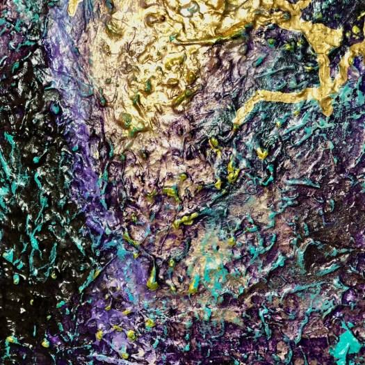 Dettagli di colore e materici - Andrea Bellocchio - 120x80 - acrilico su tela con pastelli e vetro frantumato