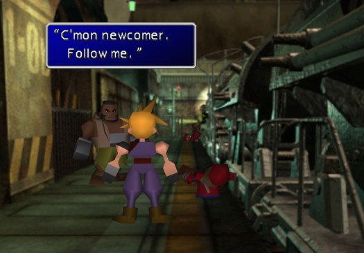 FF7 gameplay.