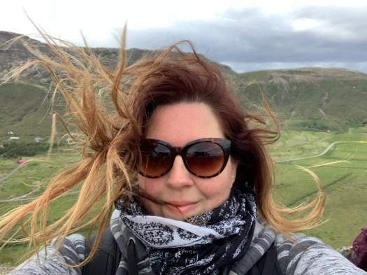 selfie - the wind in Iceland