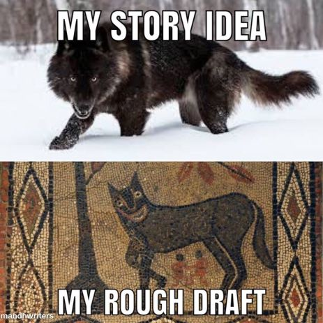 Story Idea vs draft meme