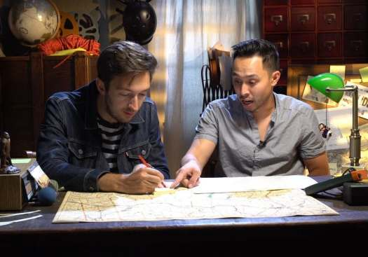 Shane Madej (left) and Ryan Bergara (right) on Buzzfeed Unsolved.