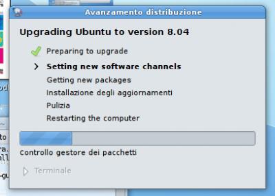 Passaggio ad Ubuntu 8.04 Hardy Heron