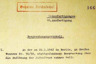 """Un'altra olo-bufala di """"Repubblica"""": il presunto originale del Protocollo di Wannsee"""