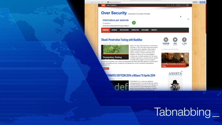 Tabnabbing, un caso reale di Phishing