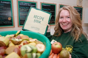 Chester Zoo nutritionist Andrea Fidgett and her animal recipe book