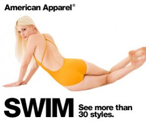 Charlotte Stokely in American Apparel ad
