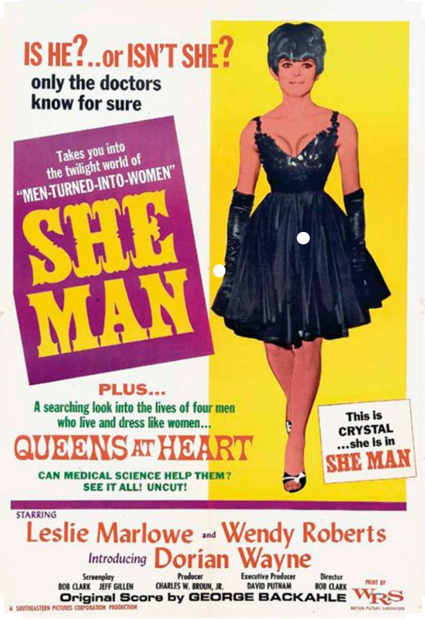 she man movie poster double bill with queens at heart