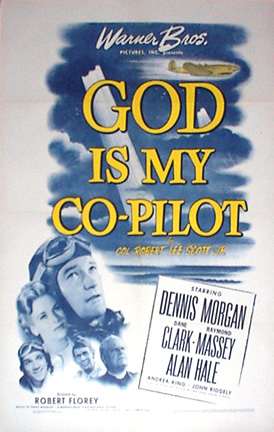 """The original one-sheet poster for """"God Is My Co-Pilot,"""" 1945."""