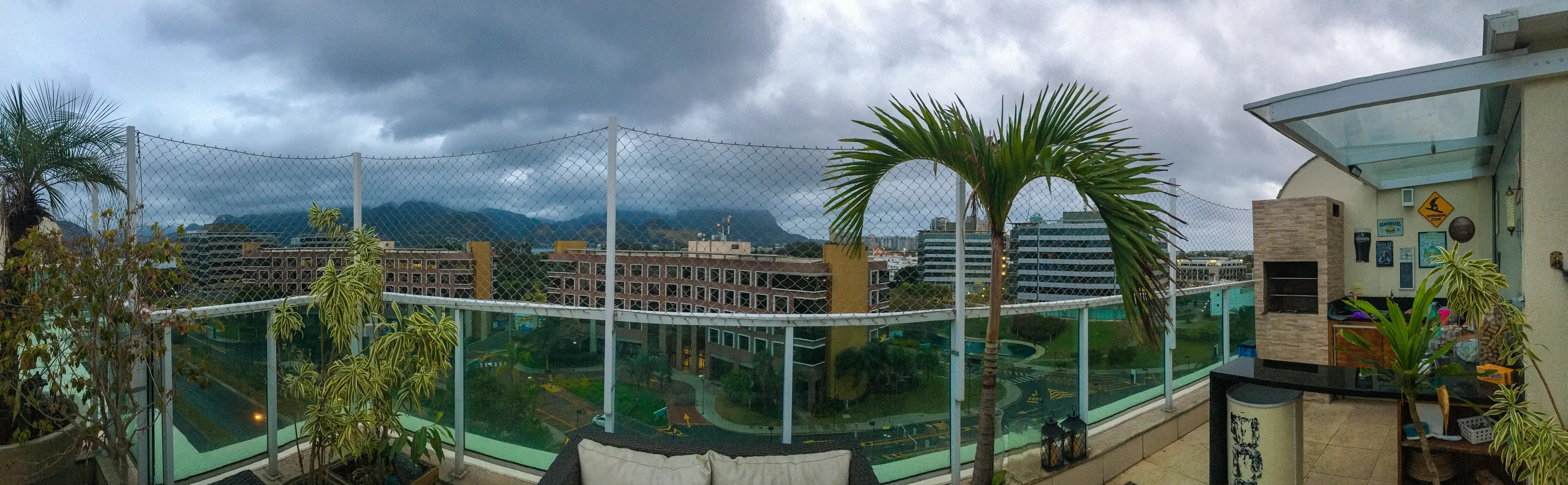 The view from George and Paty's rooftop.