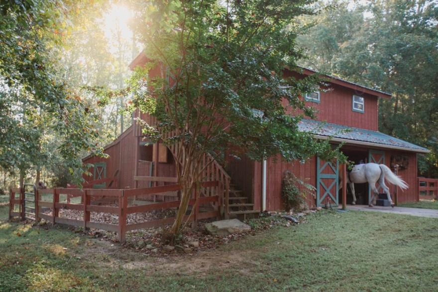 Kathy Duffy's red barn in Milton Georgia