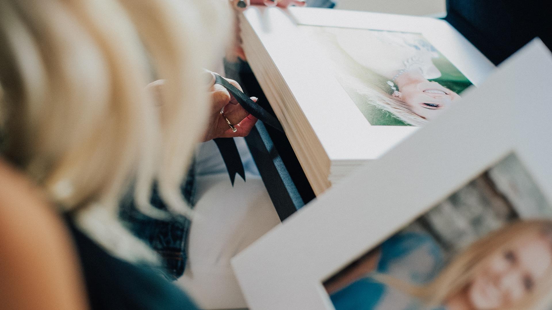 reveal session printed product folio box