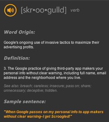 Sgroogled - Definizione