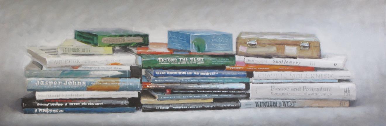 Art books, 2010, olio su tel...