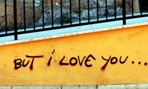I love you graffitti