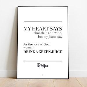 print | green juice