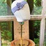 Blue Bunched Headband