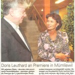 Andreas Spörri trifft Bundesrätin Doris Leuthard an der Classionata.