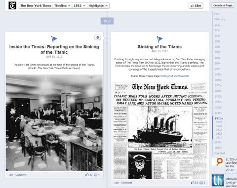 NYT - Timeline milestones