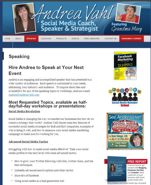 Andrea Vahl Speaker page before