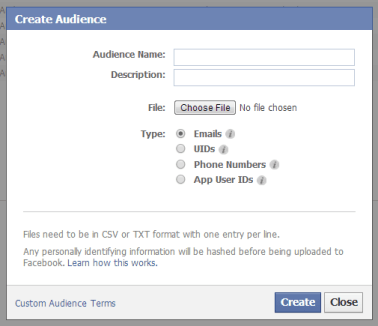 Create Audience Power Editor