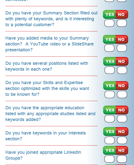 LinkedIn Checklist [Infographic]