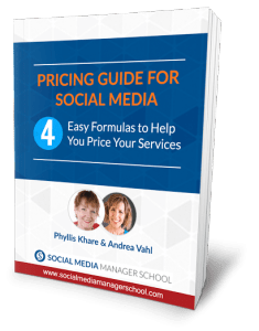 social media consultant pricing services