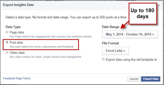 Facebook Export Post Level