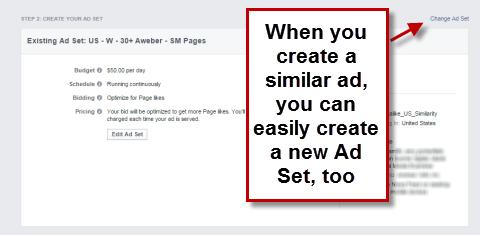 Create a new ad set