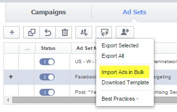 Bulk upload feature