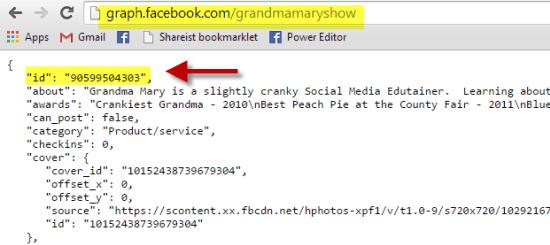 Facebook Graph ID custom URL