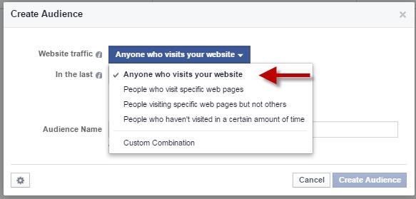 Facebook Website traffic