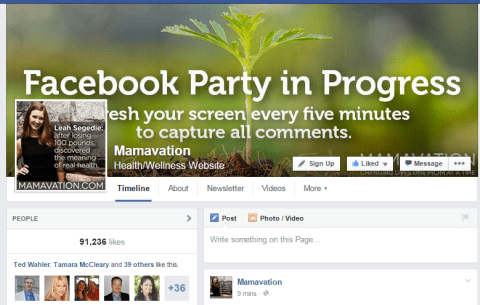 Mamavation Facebook party