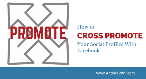 cross Promote social profiles