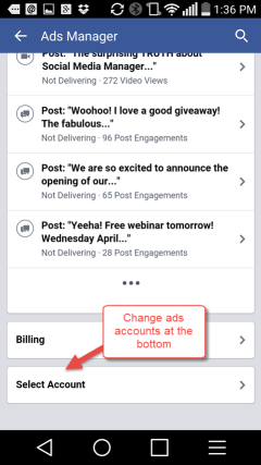 Manage Facebook Ads from mobile