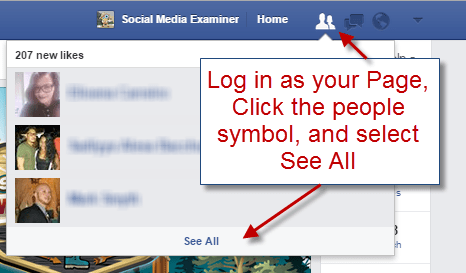 See a list of your Facebook Fans