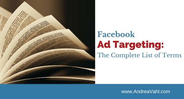 Facebook Ad Targeting Complete list
