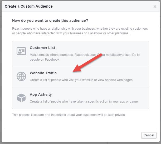 Custom Audience - Website Traffic