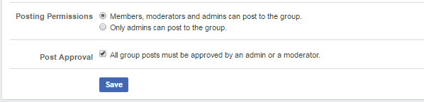 Posting Permissions Facebook Groups